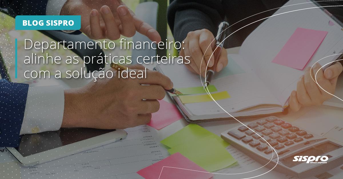 melhores práticas para o departamento financeiro