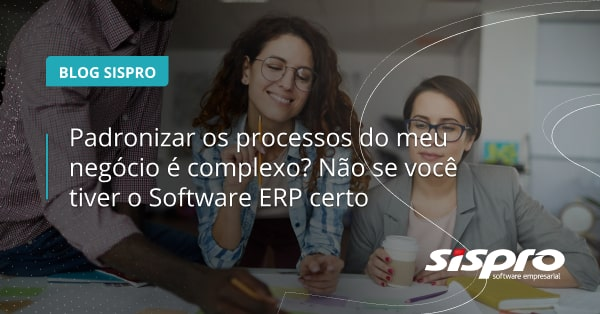 como o software ERP padroniza processos