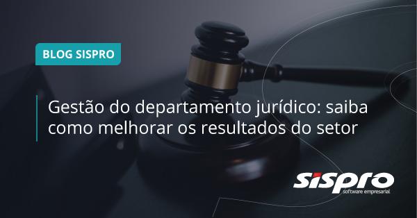 gestão do departamento jurídico